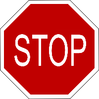 Stop Sign for height warning